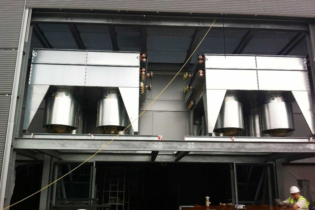 Totally bespoke Dry Air Coolers fitted in data centre