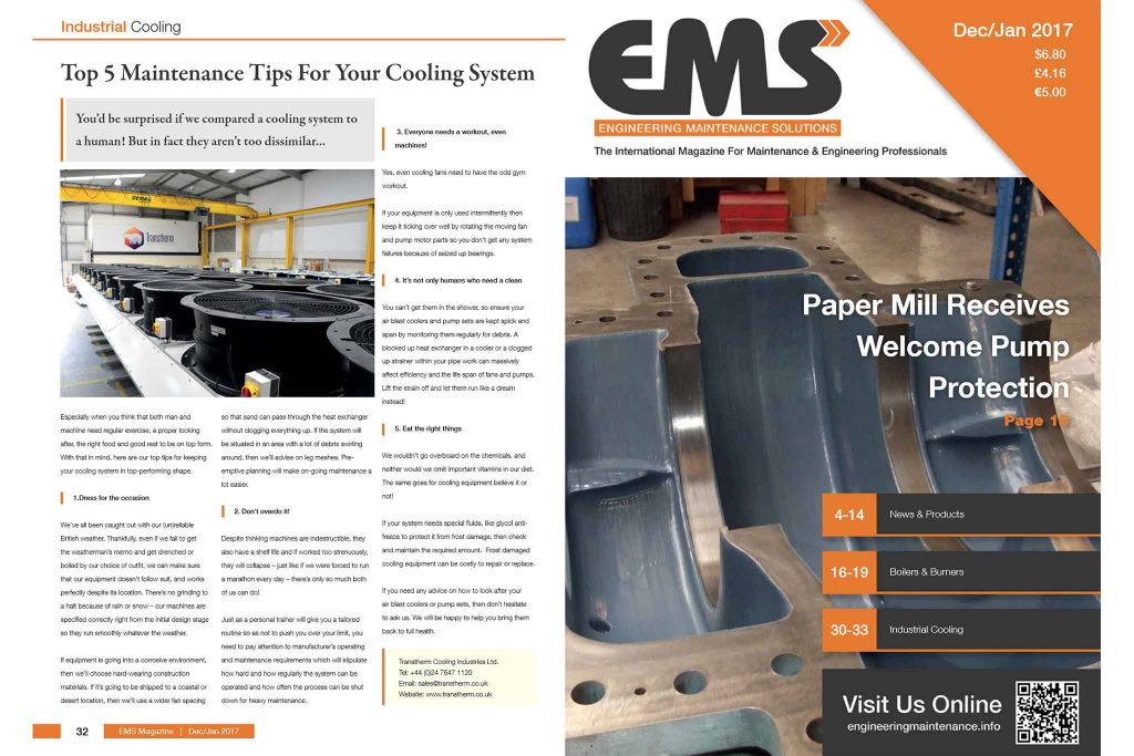 Top 5 Maintenance Tips For Your Cooling System